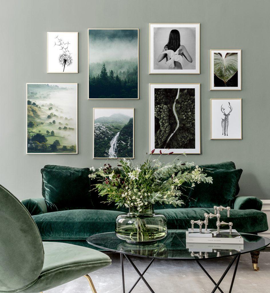Bilderwand gestalten Grün