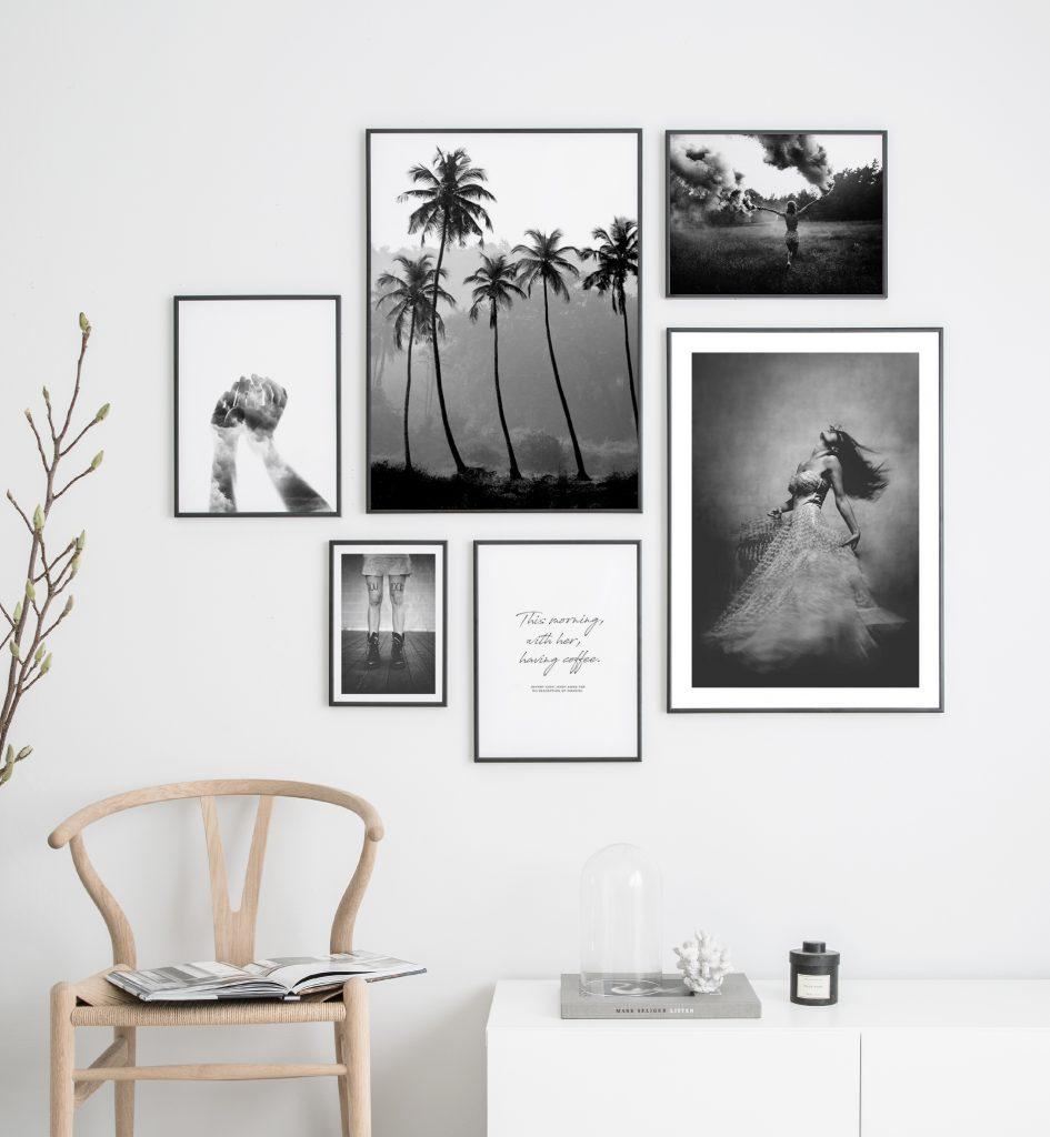 Bilderwand gestalten Weiß
